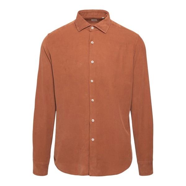 Camicia arancione a costine                                                                                                                           Xacus 748 fronte