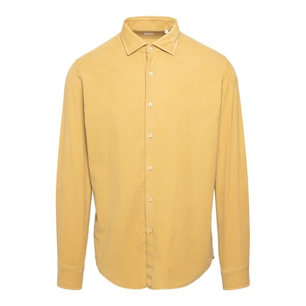 Camicia gialla a costine                                                                                                                              Xacus 748 fronte