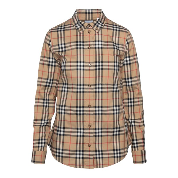 Beige shirt in checked pattern                                                                                                                         BURBERRY