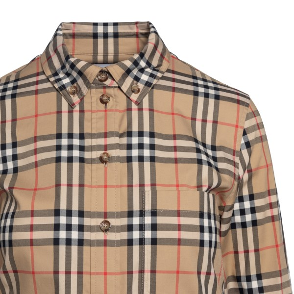 Camicia beige in pattern a quadri                                                                                                                      BURBERRY                                           BURBERRY