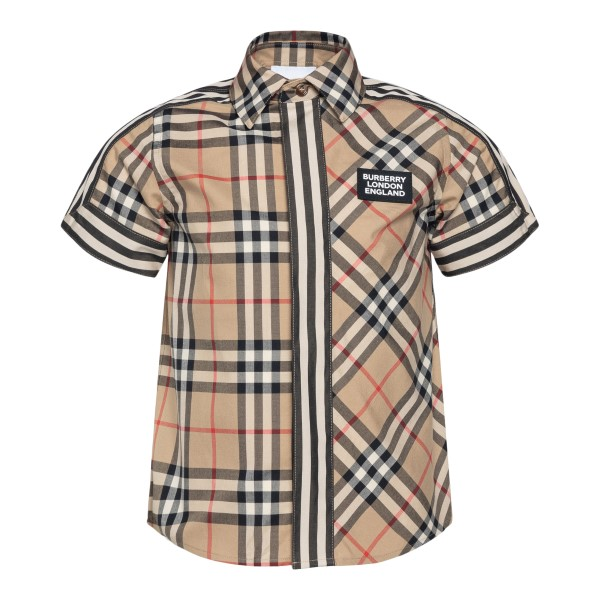 Beige checked shirt                                                                                                                                   Burberry 8030099 back