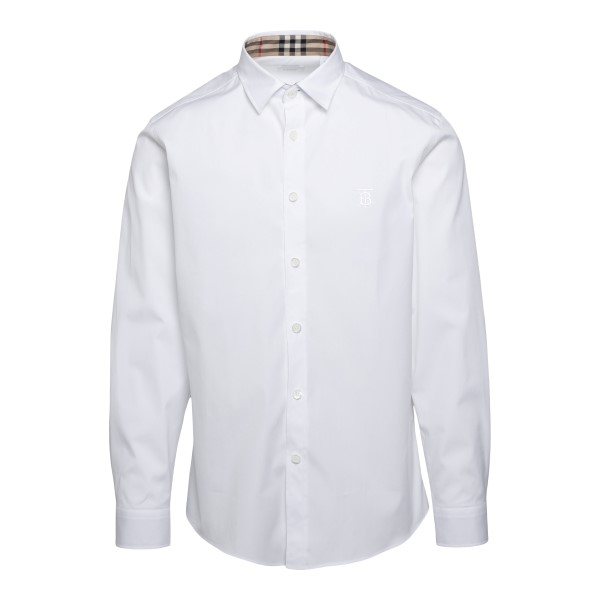 White shirt with checked interior details                                                                                                              BURBERRY