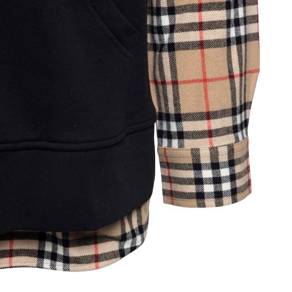 Camicia in design a pannelli con logo                                                                                                                  BURBERRY                                           BURBERRY