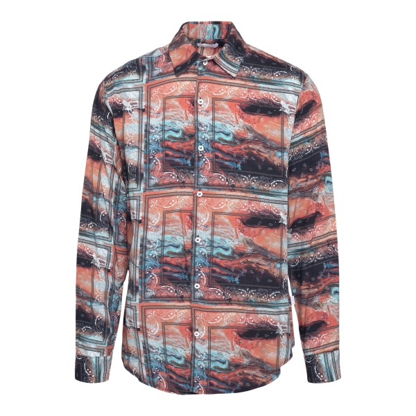 Multicolored shirt with marbled effect                                                                                                                 C.9.3