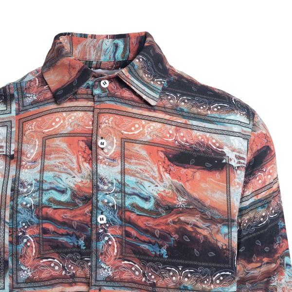 Camicia multicolore effetto marmorizzato                                                                                                               C.9.3                                              C.9.3