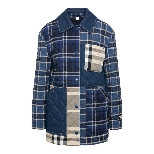 Giacca blu trapuntata stile patchwork                                                                                                                  BURBERRY                                           BURBERRY