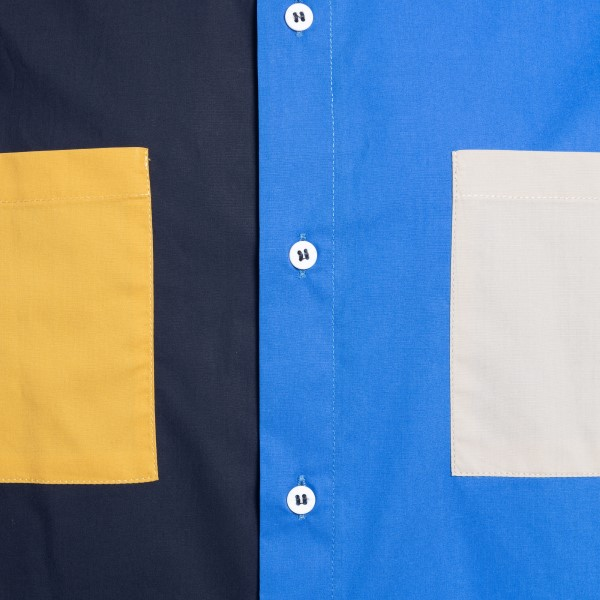 Color-block design shirt                                                                                                                               C.9.3