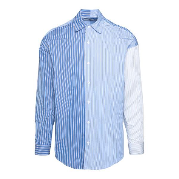 Camicia azzurra in design color-block                                                                                                                  C.9.3                                              C.9.3