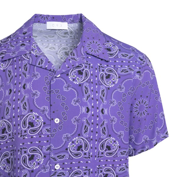 Camicia viola a stampa paisley                                                                                                                         C.9.3 C.9.3
