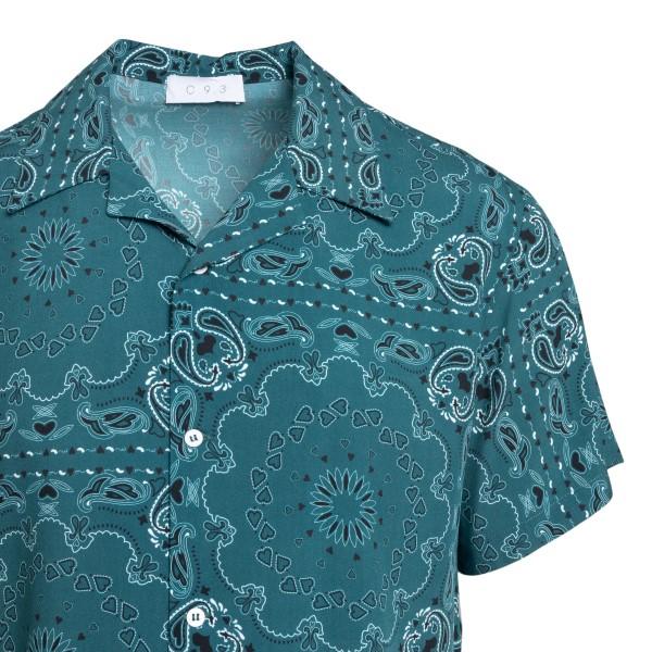 Camicia verde con stampa paisley                                                                                                                       C.9.3                                              C.9.3