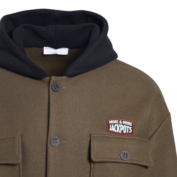 Military green jacket with hood                                                                                                                        C.9.3