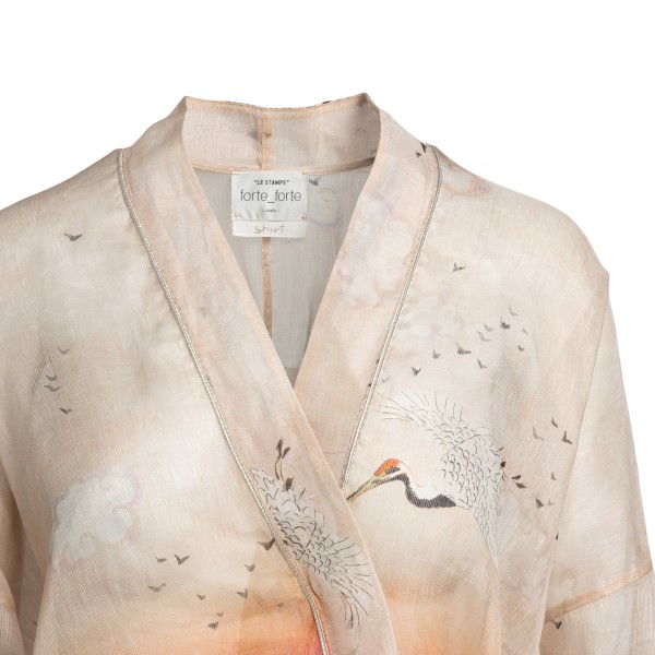 Camicia semi trasparente rosa con stampa                                                                                                               FORTE FORTE                                        FORTE FORTE