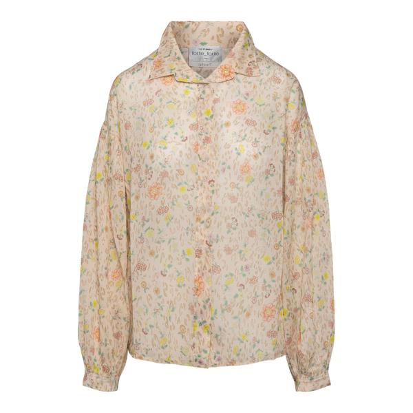 Camicia beige a fiori                                                                                                                                  FORTE FORTE                                        FORTE FORTE