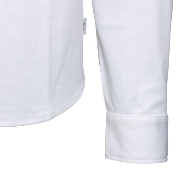 Camicia bianca con targhetta logo                                                                                                                      EMPORIO ARMANI                                     EMPORIO ARMANI