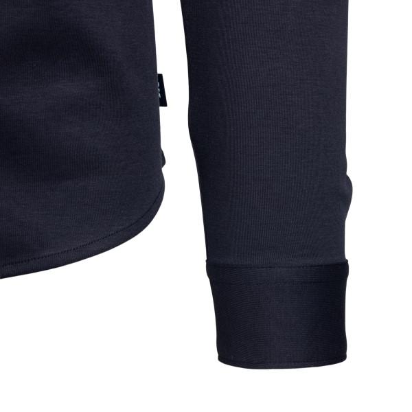Camicia nera con targhetta logo                                                                                                                        EMPORIO ARMANI                                     EMPORIO ARMANI