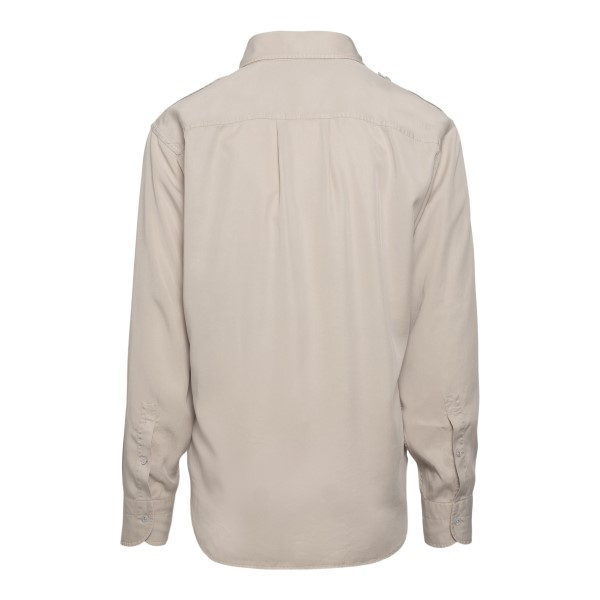 Beige shirt with chest pockets                                                                                                                         TOM FORD
