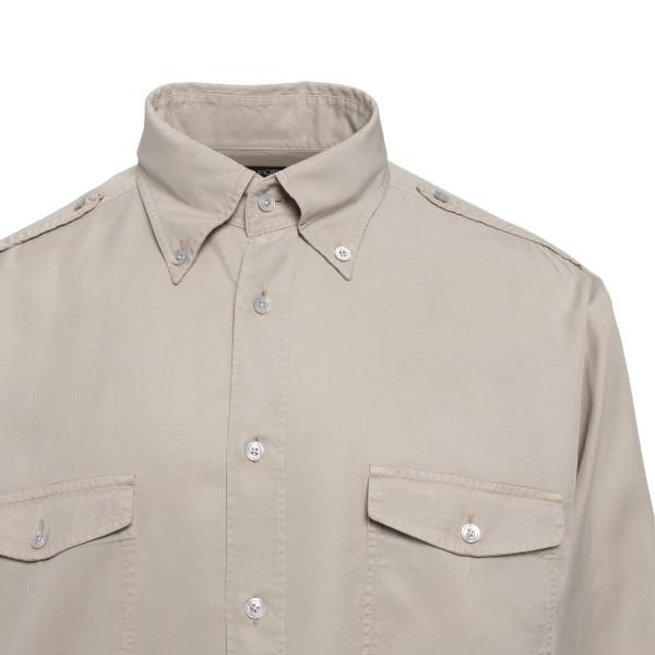 Camicia beige con tasche sul petto                                                                                                                     TOM FORD                                           TOM FORD