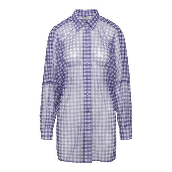 Purple checked tulle shirt                                                                                                                            Philosophy A0212 back