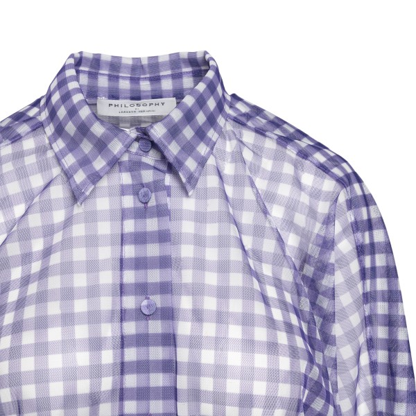 Purple checked tulle shirt                                                                                                                             PHILOSOPHY