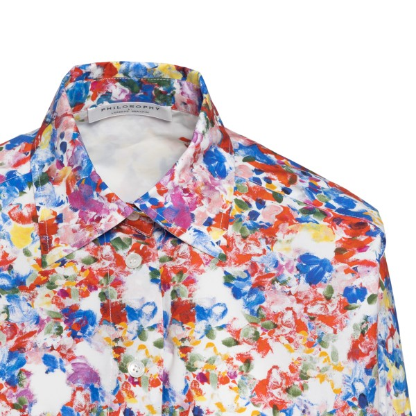 Long white shirt with multicolored print                                                                                                               PHILOSOPHY