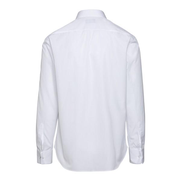 Classic white shirt with hidden closure                                                                                                                EMPORIO ARMANI