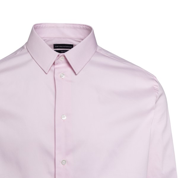 Classic shirt in light pink                                                                                                                            EMPORIO ARMANI