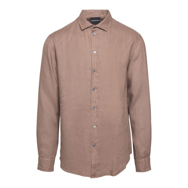 Classic shirt in light brown                                                                                                                          Emporio Armani A1SMDL back
