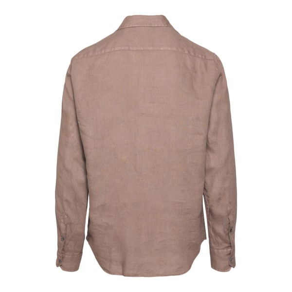 Classic shirt in light brown                                                                                                                           EMPORIO ARMANI