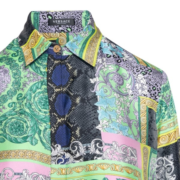Multicolored shirt with graphic print                                                                                                                  VERSACE