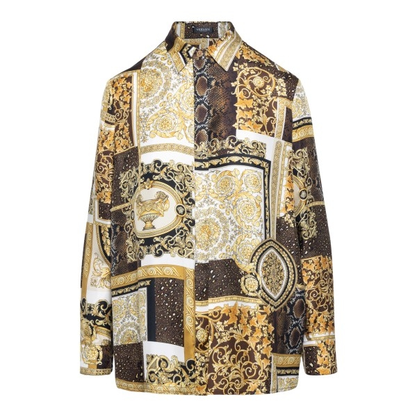 Brown patterned shirt                                                                                                                                 Versace A82662 front