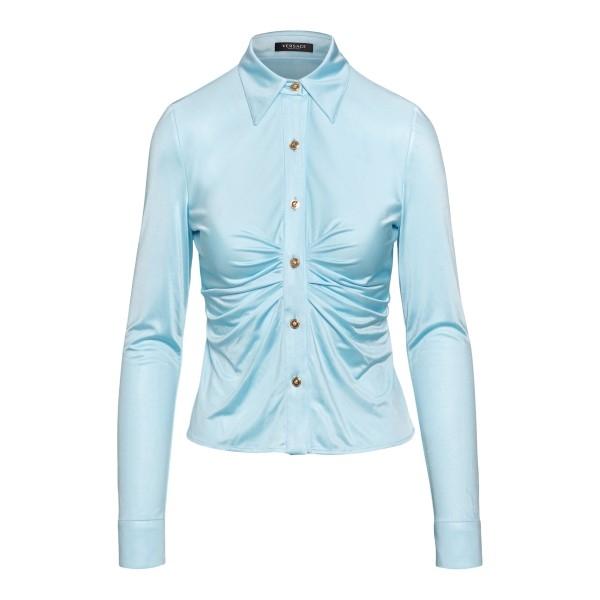 Light blue shirt with ruffles                                                                                                                         Versace A88619 front
