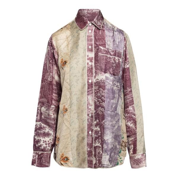 Camicia leggera multicolore a fantasia                                                                                                                Pierre Louis Mascia ALOESCML10642 retro