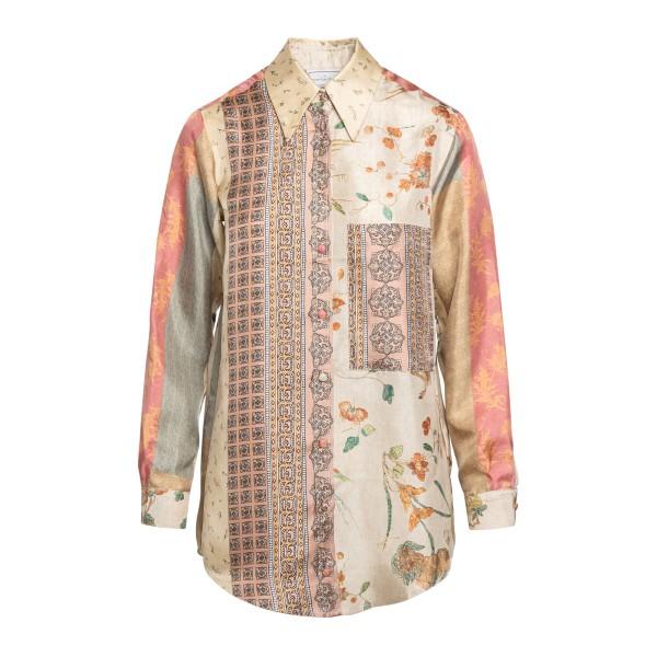 Camicia multicolore a fantasia                                                                                                                        Pierre Louis Mascia ALOESCML11076 retro