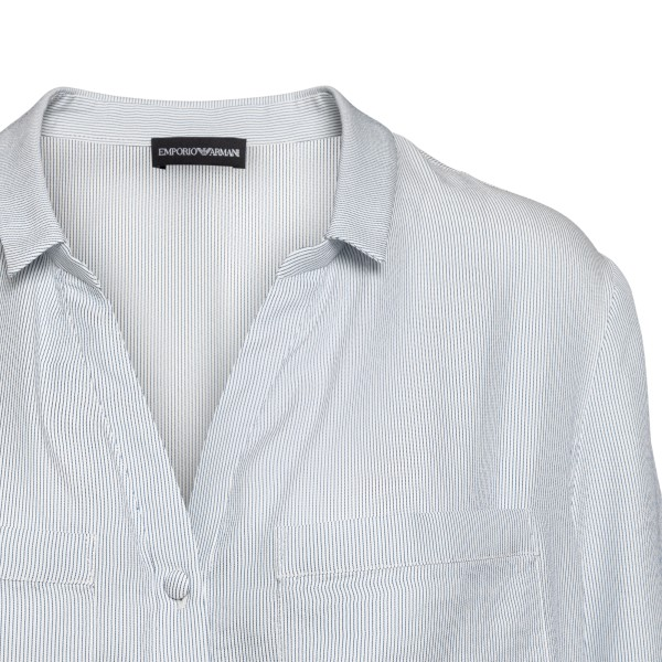 White shirt with fine stripes                                                                                                                          EMPORIO ARMANI