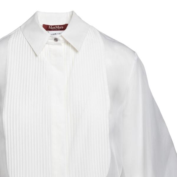 Camicia bianca semitrasparente                                                                                                                         MAX MARA STUDIO MAX MARA STUDIO