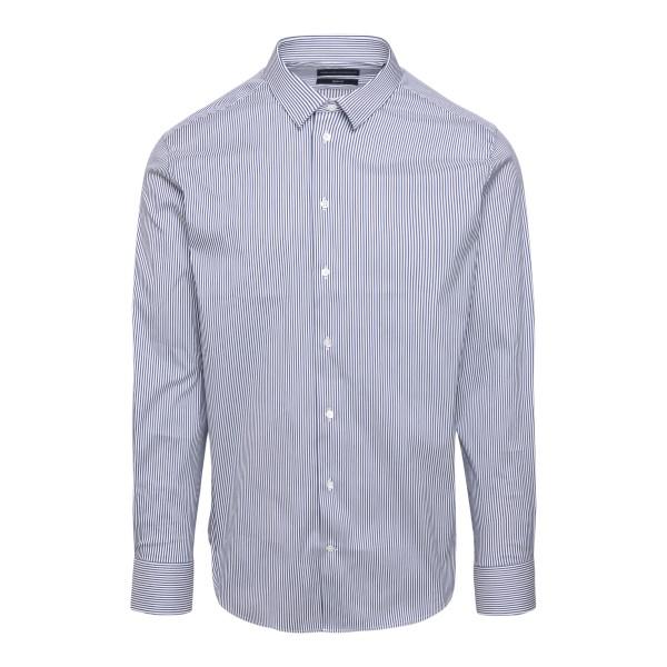 Striped shirt in blue                                                                                                                                  EMPORIO ARMANI