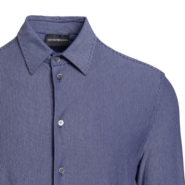 Blue shirt with thin stripes                                                                                                                           EMPORIO ARMANI