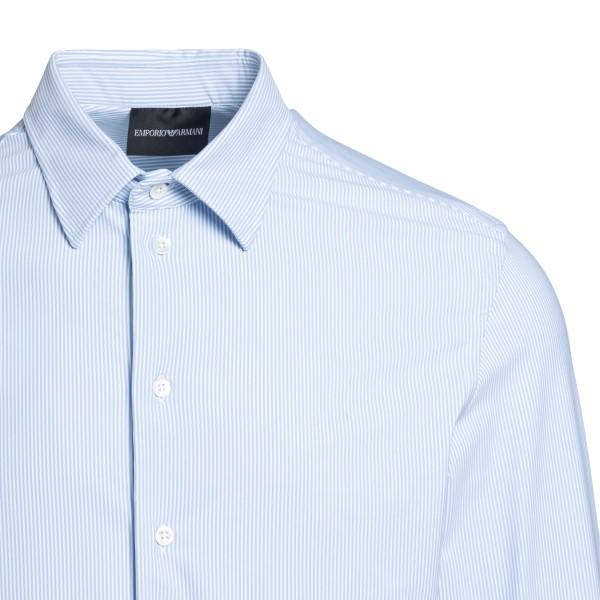 Light blue shirt with thin stripes                                                                                                                     EMPORIO ARMANI