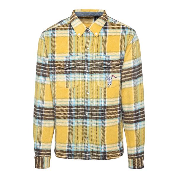 Yellow checked shirt                                                                                                                                  Billionaire Boys Club B21339 back