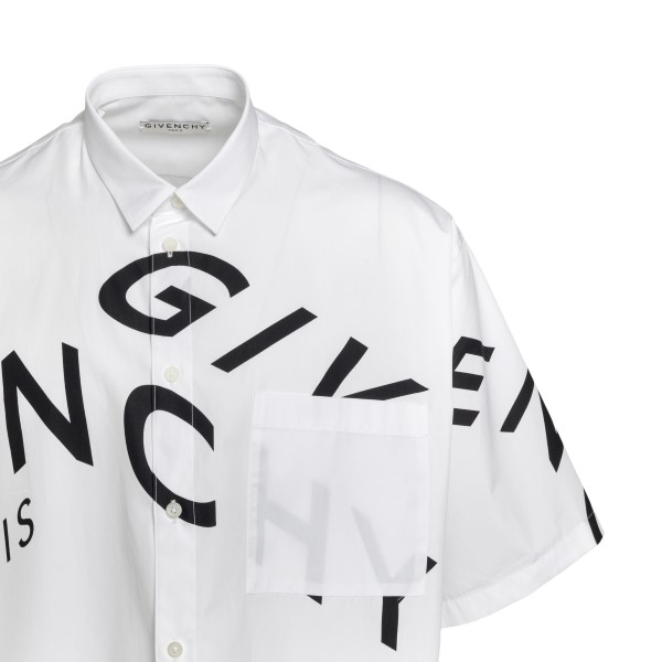 White shirt with logo print                                                                                                                            GIVENCHY