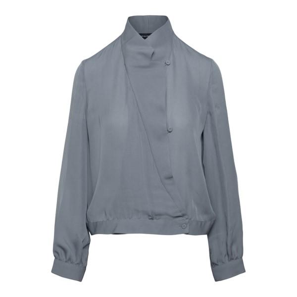 Semi-transparent grey blouse                                                                                                                           EMPORIO ARMANI