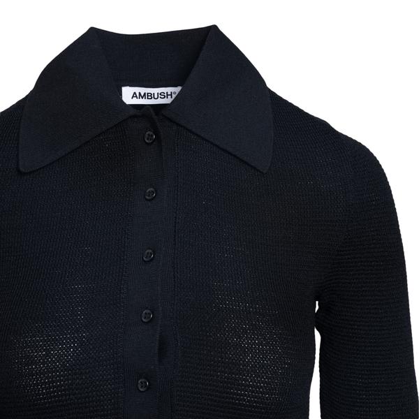 Camicia in maglia nera                                                                                                                                 AMBUSH AMBUSH