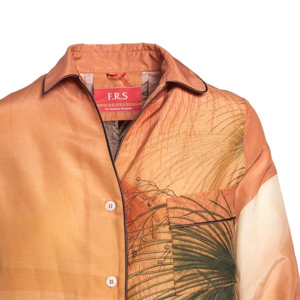 Orange shirt with print                                                                                                                                F.R.S.