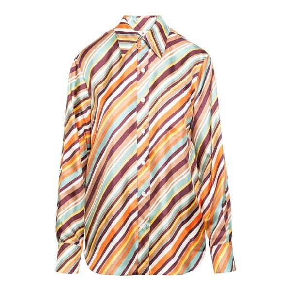 Multicolour striped shir                                                                                                                              Marni CAMA0103A0 front