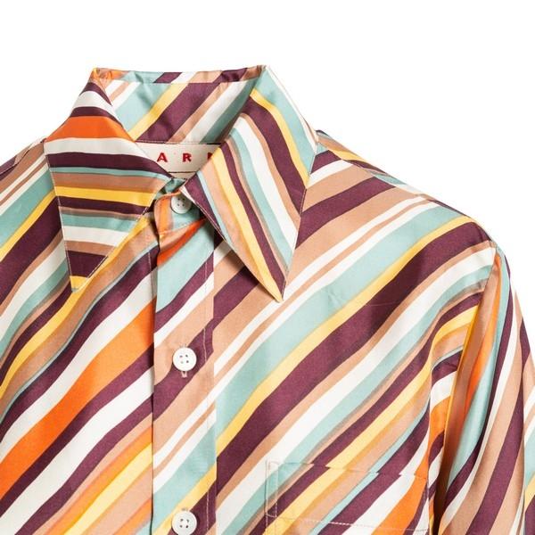 Multicolour striped shir                                                                                                                               MARNI