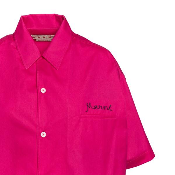 Fuchsia shirt with logo embroidery                                                                                                                     MARNI