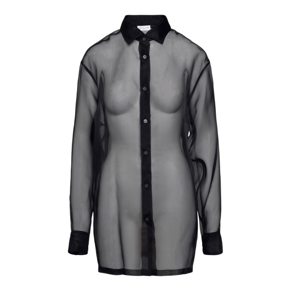 Semitransparent black shirt                                                                                                                           Dries Van Noten CASSIDOTRANSP back