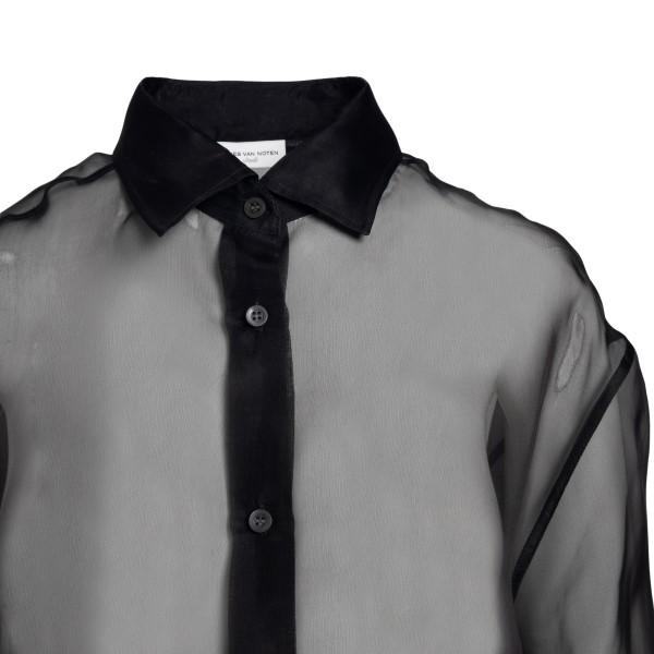 Semitransparent black shirt                                                                                                                            DRIES VAN NOTEN