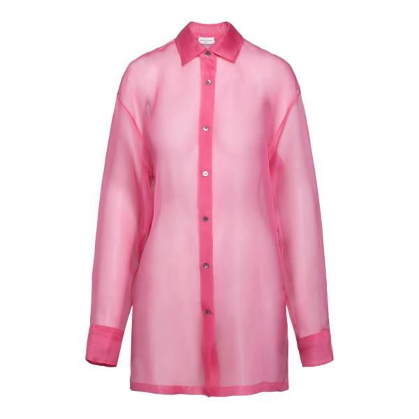 Semi-transparent pink shirt                                                                                                                           Dries Van Noten CASSIDOTRANSP back