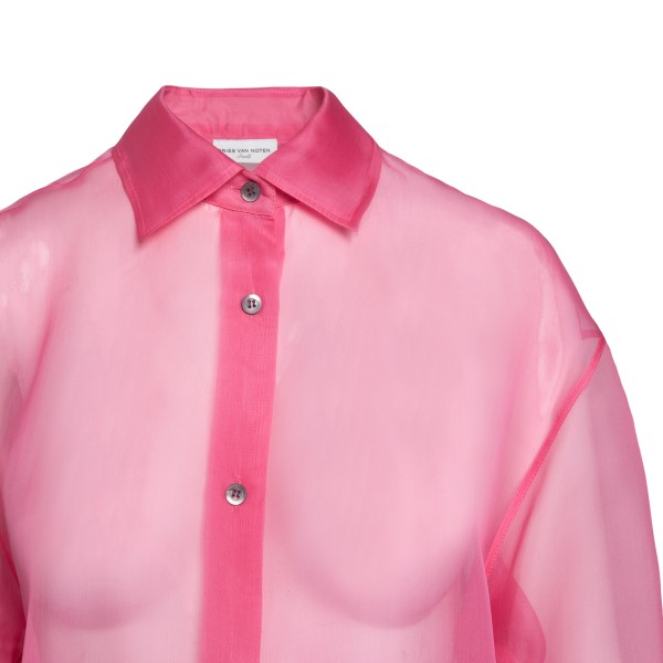 Camicia rosa semitrasparente                                                                                                                           DRIES VAN NOTEN                                    DRIES VAN NOTEN